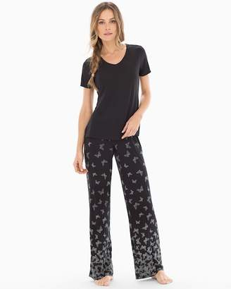DAY Birger et Mikkelsen Cool Nights Short Sleeve Pajama Set Fancy Free Border Black