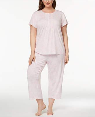 Charter Club Plus Size Pleated Knit Pajama Set