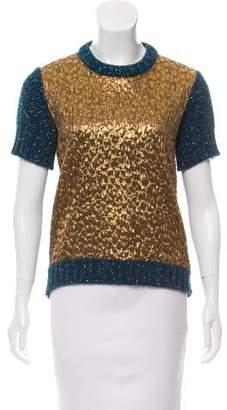 Rochas Metallic-Accented Sweater