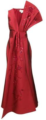 Sachin + Babi Blanche gown