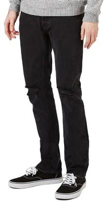 Men's Topman Freeway Rip Slim Fit Jeans $75 thestylecure.com
