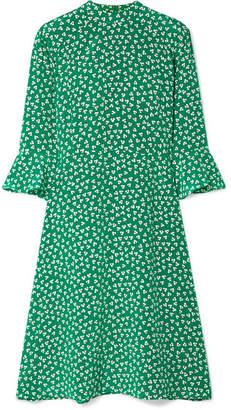 DAY Birger et Mikkelsen HVN Ashley Floral-print Silk Crepe De Chine Dress