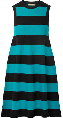 Michael Kors Striped Knitted Dress - Black