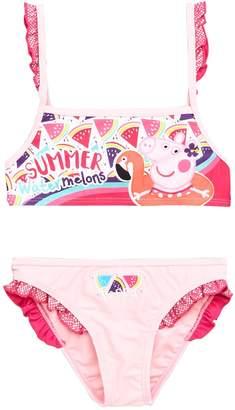 Peppa Pig Glitter Frill Water Melon Bikini Set