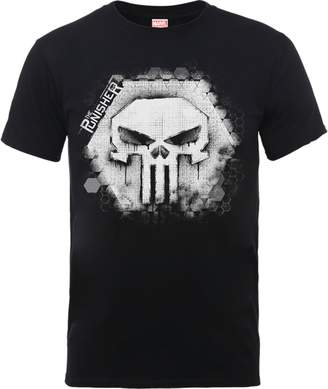 Marvel The Punisher Skull Badge Men's Black T-Shirt