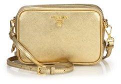 pradaPrada Metallic Saffiano Leather Camera Bag