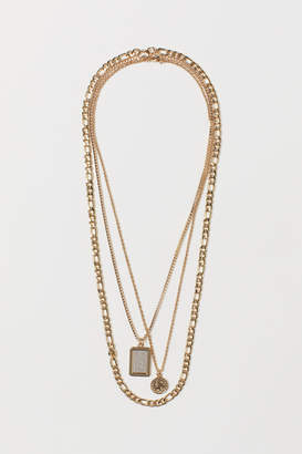 H&M 3-pack Necklaces - Gold