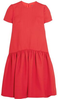 Alexander McQueen - Drop-waist Wool-blend Scuba Dress - Red $2,165 thestylecure.com