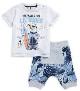Petit Lem Baby Boy's Cotton-Blend Two-Piece Tee and Shorts Set