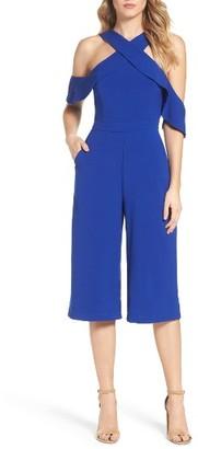 Women's Adelyn Rae Cold Shoulder Culotte Jumpsuit $116 thestylecure.com