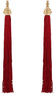 Saint Laurent Women's Loulou Earrings - Red