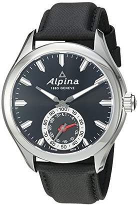 Alpina Men's AL-285BS5AQ6 Horological Smart Analog Display Swiss Quartz Watch