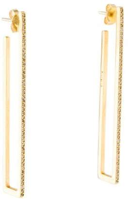 Jennifer Meyer 18K Diamond Bar Drop Earrings
