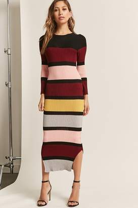 Forever 21 Colorblock Bodycon Maxi Dress