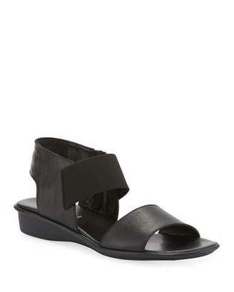 Sesto Meucci Elki Demi-Wedge Leather Sandals, Black