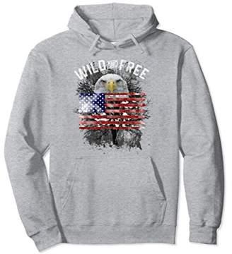 American Bald Eagle Hoodie Wild And Free American Flag