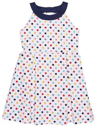 Florence Eiseman Pique Polka-Dot Dress, Size 7-14