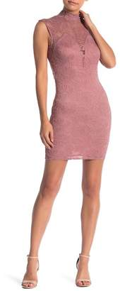 Pink Owl Open Back Bodycon Lace Dress