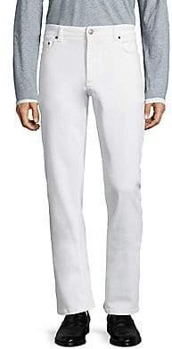 Salvatore Ferragamo Men's Bianco Straight Jeans
