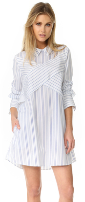 BCBGMAXAZRIA Crisscross Shirtdress $198 thestylecure.com