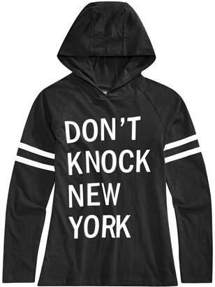 DKNY Big Girls Hooded Long-Sleeve T-Shirt