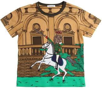 Dolce & Gabbana Horse Printed Cotton Jersey T-Shirt
