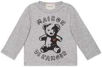 Gucci Baby T-shirt with teddy bear print