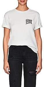 """Ksubi Women's """"Bring Back Life"""" Cotton T-Shirt - White"""