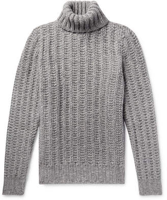 Tod's Slim-Fit Melange Alpaca-Blend Rollneck Sweater - Gray