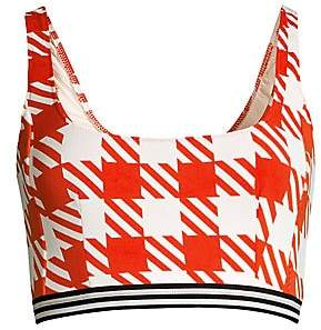 Solid and Striped Women's Kayla Gingham Lipstick Bikini Top