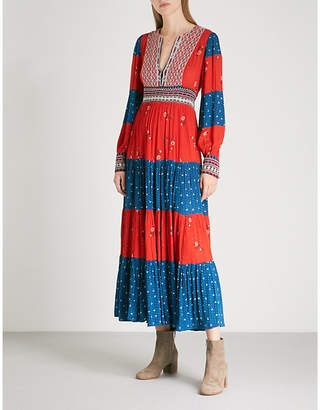 Free People Patchwork woven maxi dress