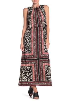 London Times Batic Patterned Maxi Dress
