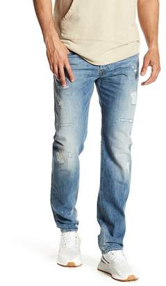 Diesel Buster Button Fly Distressed Jeans