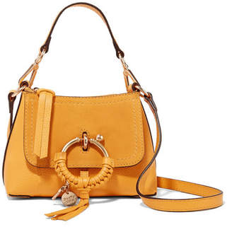 See by Chloe Joan Mini Textured-leather And Suede Shoulder Bag - Mustard