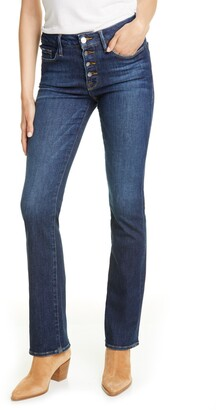 Frame Le Mini Boot Button Fly Jeans