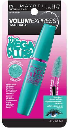 Maybelline Volum' Express The Mega Plush Washable Mascara Brownish Black