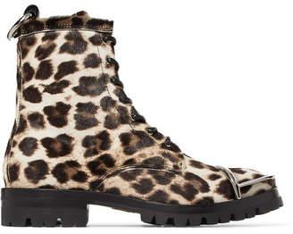 Alexander Wang Lyndon Embellished Leopard-print Calf Hair Ankle Boots - Leopard print