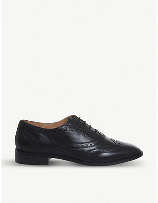 Office Flapjack leather oxford brogues
