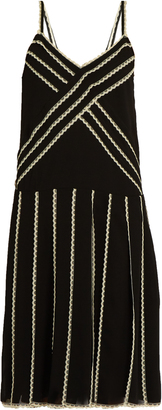 REDVALENTINO Lace-trimmed georgette dress $660 thestylecure.com