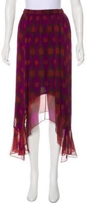 Diane von Furstenberg Louella Silk Midi Skirt Purple Louella Silk Midi Skirt