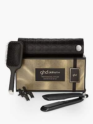 ghd Platinum+® Hair Straighteners Healthier Styling Gift Set, Black
