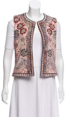 Isabel Marant Printed Embellished-Accented Vest