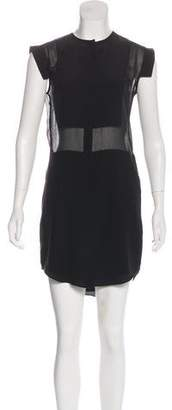 Alexander Wang Short Sleeve Silk Mini Dress