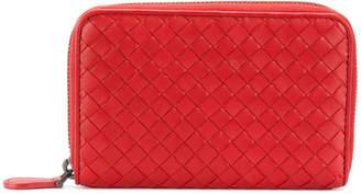 Bottega Veneta China red Intrecciato nappa zip-around wallet