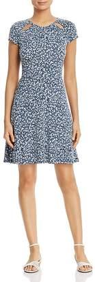 MICHAEL Michael Kors Micro-Floral Cutout Dress