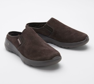 Skechers GOWalk Joy Water-Repellant Suede Clogs - Snuggly