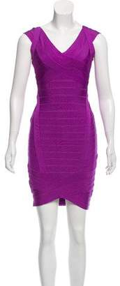 Herve Leger Crossover Bandage Dress