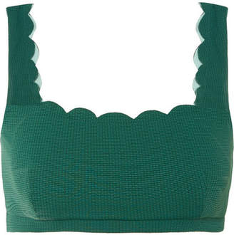 Marysia Swim Palm Springs Scalloped Bikini Top - Emerald