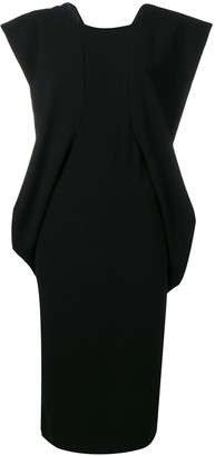 Chalayan structured shoulder dress