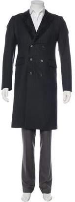Alexander McQueen 2010 Wool Herringbone Overcoat